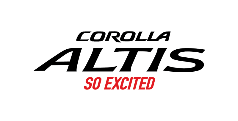LOGO Corolla Altis So Excited