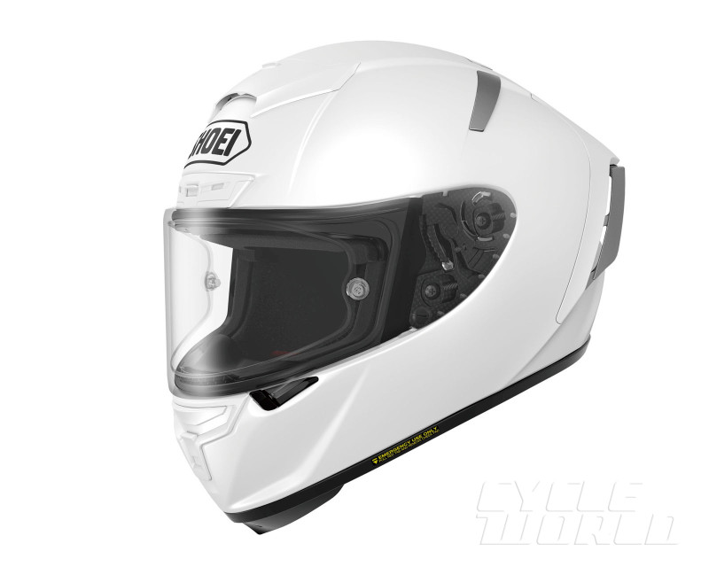 Shoei X Spirit III White FrontTilt