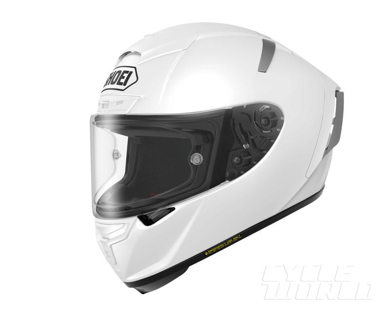 Shoei X Spirit III White FrontTilt