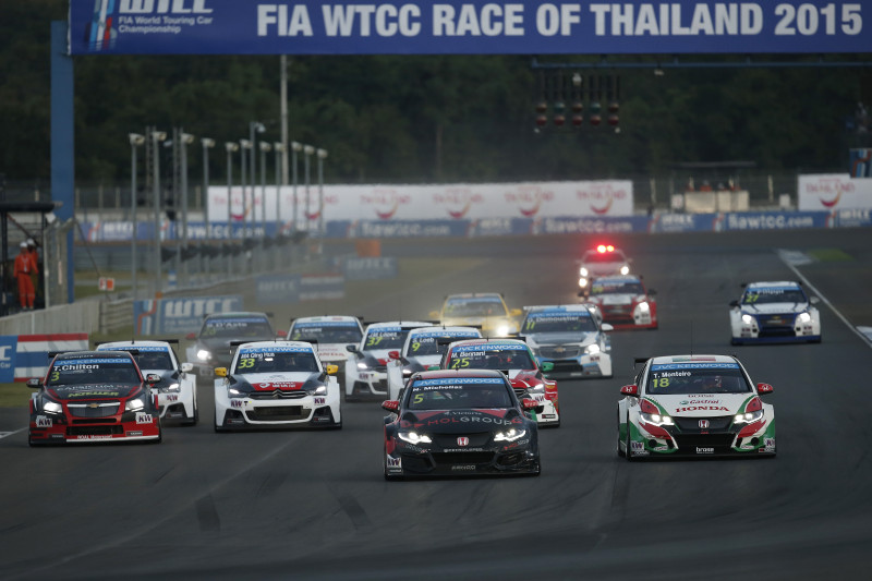 RACE 2 START 05 MICHELISZ Norbert (hun) Honda Civic Team Zengo Motorsport Action During The 2015 FIA WTCC World Touring Car Championship Race At Buriram From October  31h To November 1st  2015, Thailand. Photo Jean Michel Le Meur / DPPI