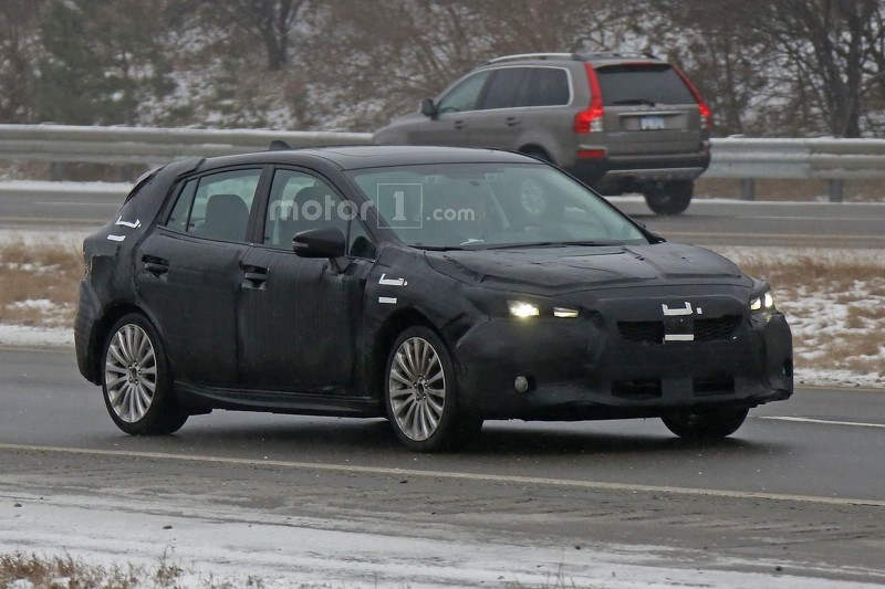 2017 Subaru Impreza Hatchback Spy Photo (1)