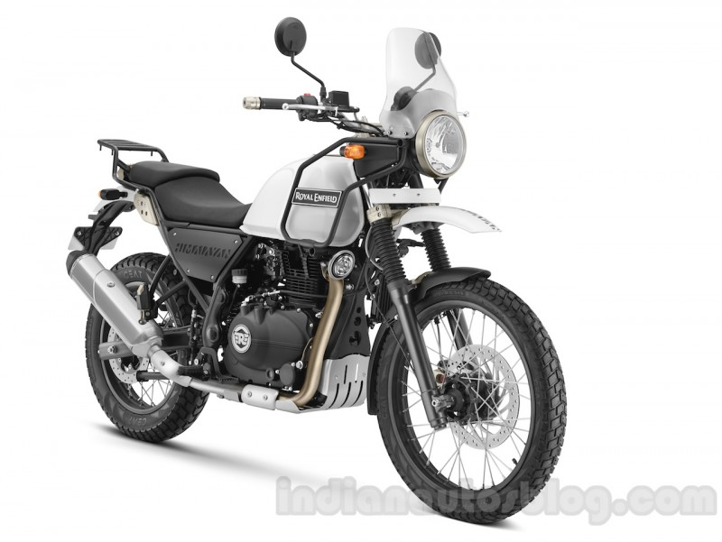 Royal Enfield Himalayan Snow Front Quarter Press Shots