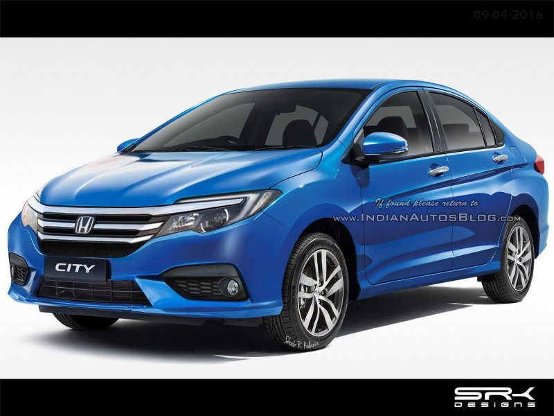 Honda City Facelift Rendering