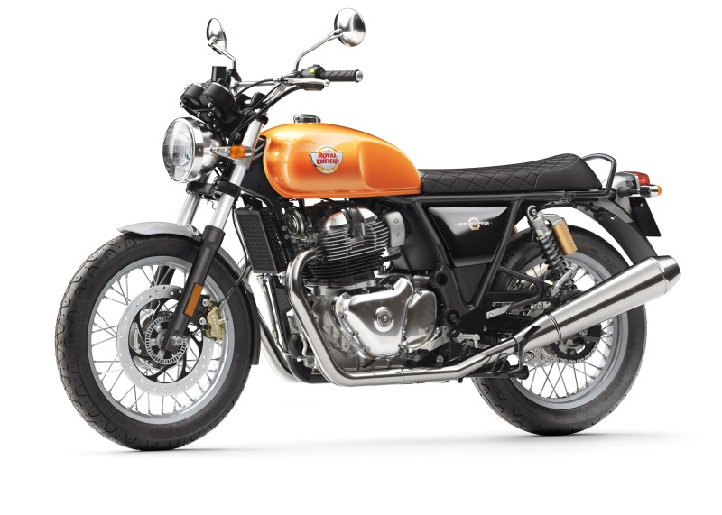 Royal Enfield Interceptor INT 650 – Orange Crush Front 3 4