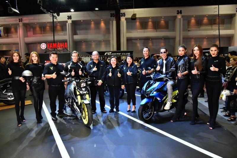 """ยามาฮ่าดึง โยฮัน ซาโก้ นักบิด MotoGP เปิดตัว 4 รุ่นใหม่ ในบูธ """"Yamaha Riders' Community"""" งาน Motor Expo 2017"""