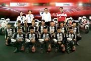 """เอ.พี.ฮอนด้า เปิดพิทต้อนรับนายกรัฐมนตรี  เยี่ยมชมการเตรียมความพร้อมของสนามฯ ก่อนไทยเป็นเจ้าภาพ จัดการแข่งขันจักรยานยนต์ทางเรียบชิงแชมป์โลก """"โมโตจีพี"""""""