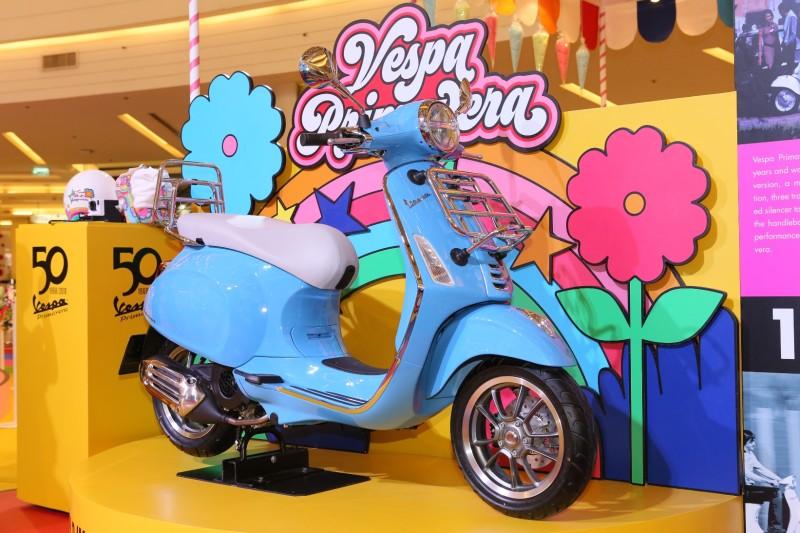 Vespa Primavera 50th Anniversary Edition Azzurro 50˚