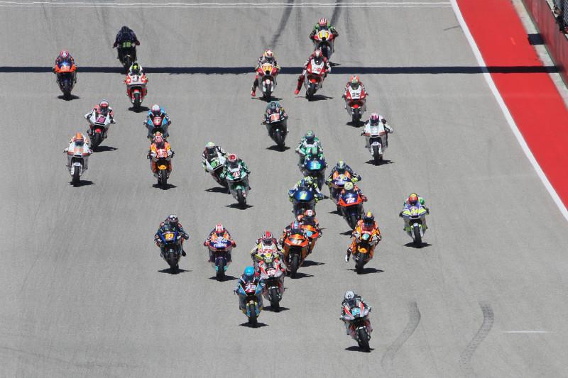 Start, Moto2 race, Grand Prix of the Americas 2019.