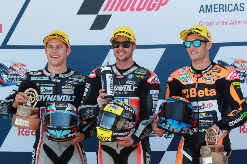 Scrotter, Luthi, Navarro, Moto2 race, Grand Prix Of The Americas 2019