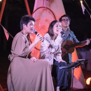 แตงโม วัลย์ลิกา และ ว่าน วันวาน จากเวที เดอะ วอยซ์ ร้องเพลงขับกล่อมในงานเลี้ยง