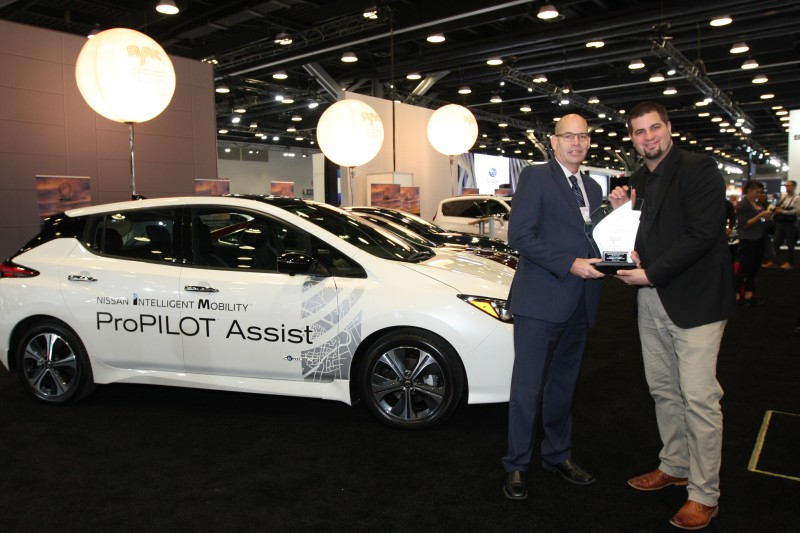 The Nissan LEAF, The World's Best-selling Electric Vehicle, Was Named The 2019 Canadian Green Car Of The Year (CGCOTY) By The Automobile Journalists Association Of Canada (AJAC) At The Vancouver International Auto Show.
