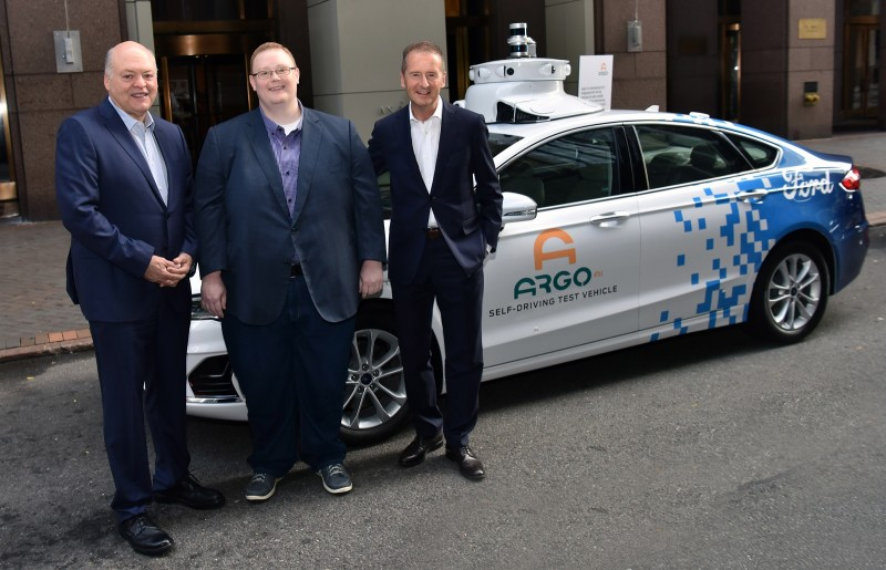 Ford President and CEO Jim Hackett, Argo AI CEO Bryan Salesky and Volkswagen CEO Dr. Herbert Diess announced Volkswagen is joining Ford in investing in Argo AI, the autonomous vehicle technology platform company.