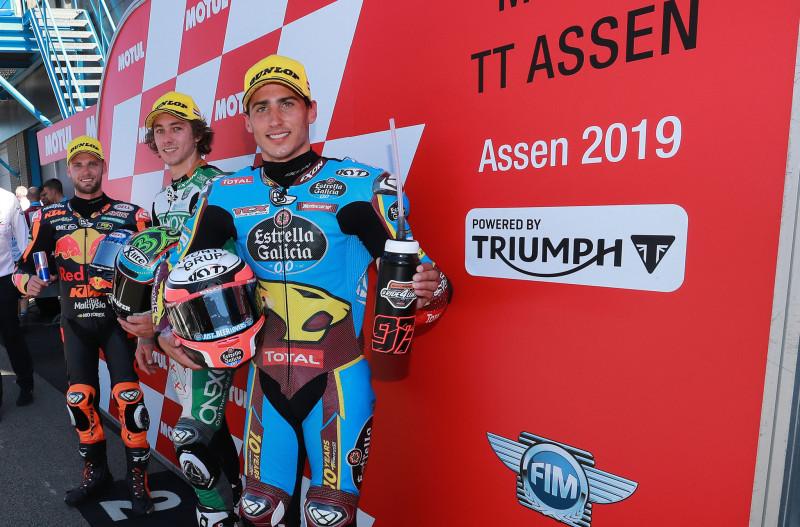 """กระหึ่มสนาม! """"Augusto Fernandez"""" คว้าชัยชนะในรายการ Motul TT Assen  เป็นผู้ชนะคนที่สี่ในการแข่งขัน Moto2 ฤดูกาล 2019 รอบที่ 8 ด้วยเครื่องยนต์ไทรอัมพ์"""