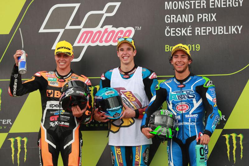 Di Giannantonio, Alex Marquez, Bastianini, Moto2 race, Czech MotGP 2019