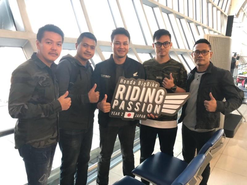 4 ไบค์เกอร์ผู้ชนะกิจกรรม Honda BigBike Riding Passion บินลัดฟ้าสู่แดนซามูไรแล้ว