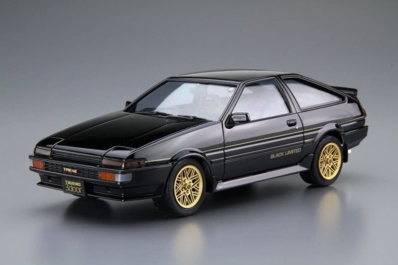 1:24 1986 Toyota AE86 Black-Limited