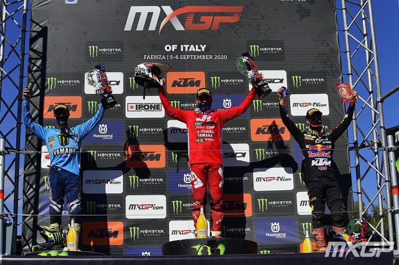 """""""เรอนูซ์"""" ระเบิดฟอร์ม ฟาเอนซ่า บิด YZ250FM ประเดิมแชมป์ MX2 """"คีทส์"""" ขึ้นโพเดี้ยมอันดับ 2"""