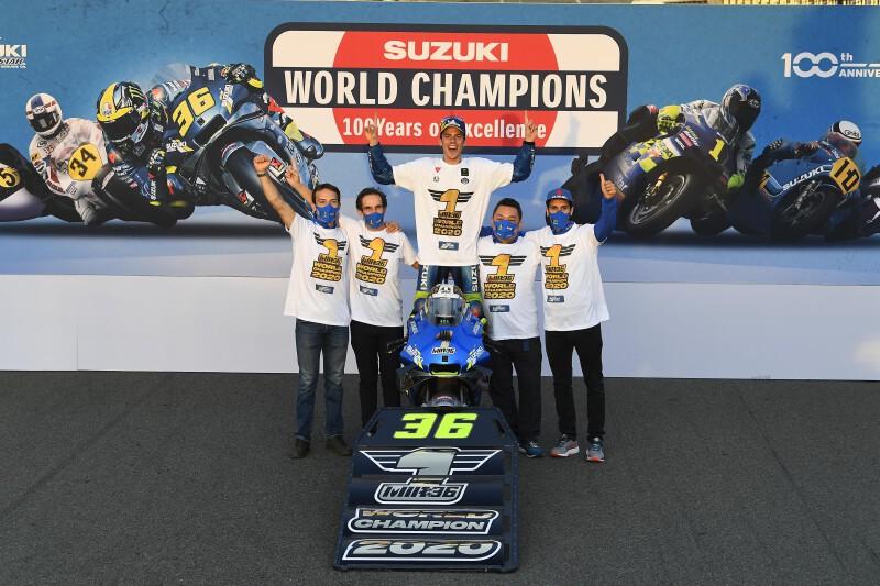 โจน เมียร์ #36 กับบทสรุปที่ยิ่งใหญ่บนอาน Suzuki GSX-RR คว้าแชมป์ MotoGP 2020 แบบไม่จบฤดูกาล