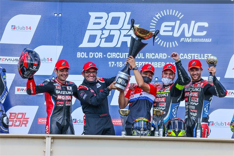 ซูซูกิ ที่ 1 คว้าชัย Bol D'Or 24-Hour ยึดตำแหน่งจ่าฝูงรายการ FIM Endurance World Championship 2021